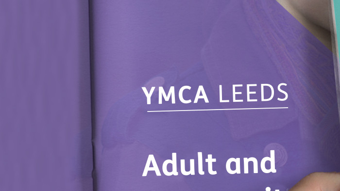 YMCA Leeds brochure design